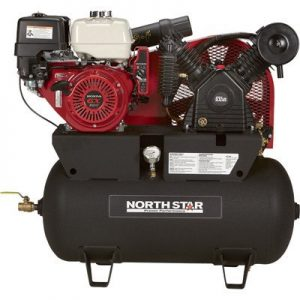 NorthStar Portable Gas-Powered Air Compressor - Honda GX390 OHV Engine, 30-Gallon